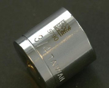 laser marked part